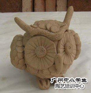 手工捏的陶艺_创意作品之手工捏塑-广州市中小学生陶艺培训中心